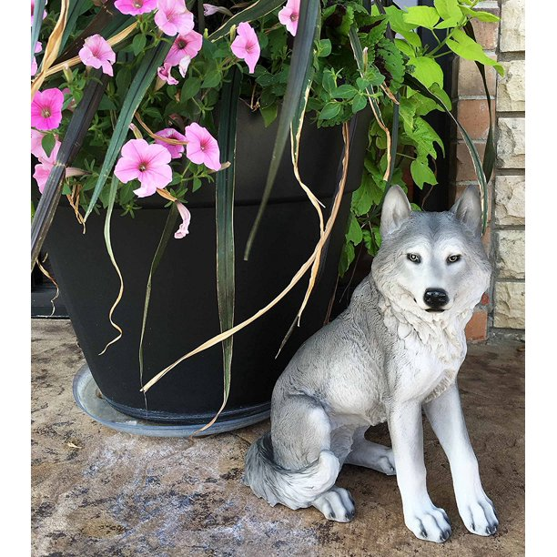 Majestic Mythical Sitting Gray Alpha Wolf Statue Figurine Timberwolves Decor Wisdom Of The Woodlands For Home Decorative Patio Greeter This Statue Is By Gifts Decor Walmart Com Walmart Com