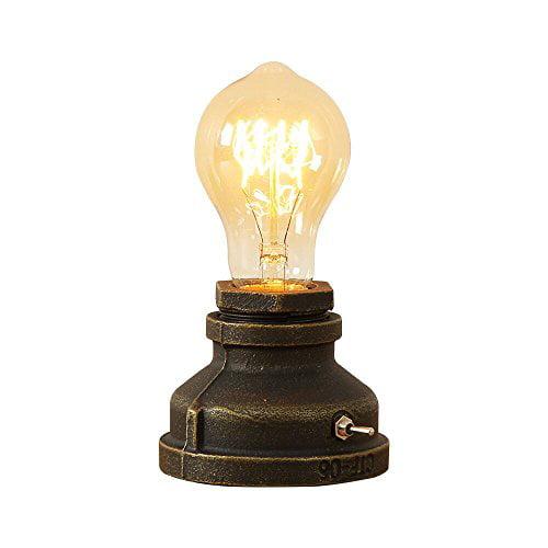 Injuicy Vintage Table Lamps Steampunk Desk Lamp Base With Switch For Bedside Bedroom Living Dining Room Cafe Bar Hallway Walmart Com Walmart Com