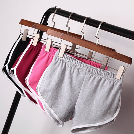 Grey Stripe Short (New Fashion Women Girls Summer Sexy Shorts feminino Workout Stretch Striped mini Short femme harajuku pantalones cortos mujer)