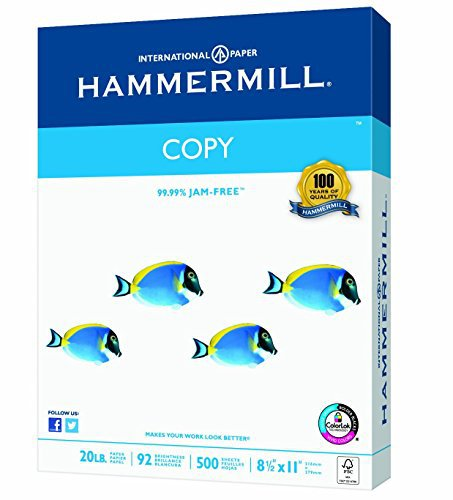 Hammermill Paper, Copy Paper Poly Wrap, 20lb, 8.5x11, letter, 92 Bright, 400 Sheets / 1 Ream (150200R), Made In The USA