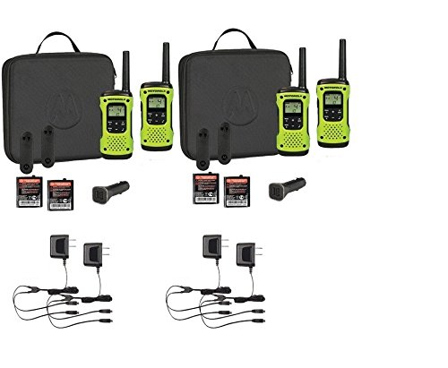 Motorola Talkabout T605 Two-Way Radios   Walkie Talkies Rechargeable & Fully Waterproof 4 PACK by MOTOROLA