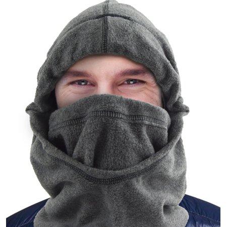 Fleece 6 in 1 Facemask Balaclava Hoodie Neck Warmer Windstopper Colors (Lightweight Windstopper)