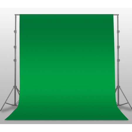 GHP 6'x9' Green Wrinkle Free Polyester Fabric Photography Muslin Backdrop Background