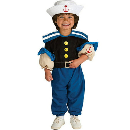 Rubies Muscle Chest Sailor Toddler Halloween Costume (Spirit Halloween Sailor Costume)