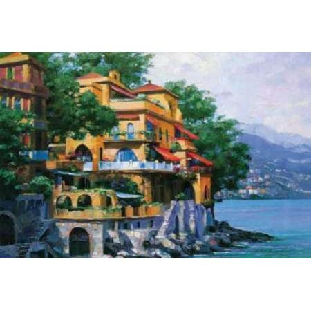 Portofino Villa Canvas Art - Howard Behrens (12 x 18) - Howard Behrens Villa