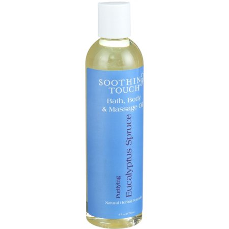 Soothing Touch Bath Body and Massage Oil - Purifying - Eucalyptus Spruce - 8 oz Body Massage Bath Oil Oils
