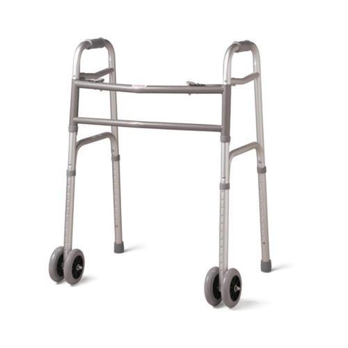 "Medline Bariatric Folding Walker with 5"" Wheels MDS86410XWW"
