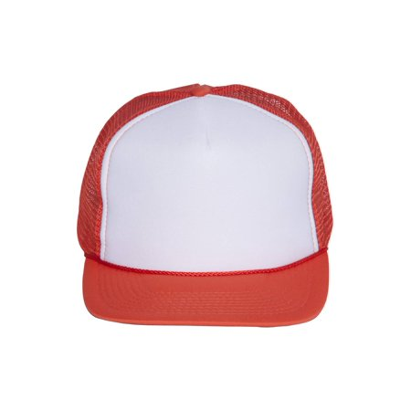 Vintage Cotton 2 Tone Foam Trucker Hat Cap - Orange