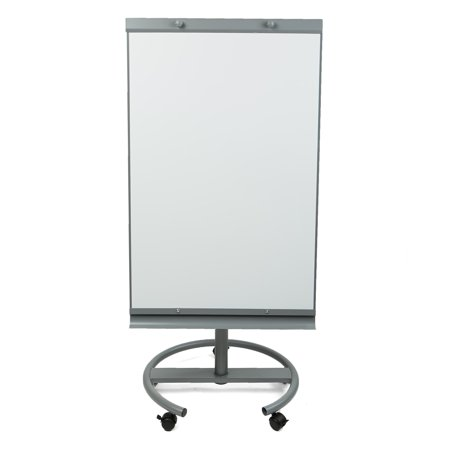 Portable Reader Boards - Mind Reader Portable Magnetic Dry Erase Easel 360 Degree Rotating White Board, White