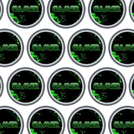 Paint Splatter Party Supplies (Gamer Paint Splatter Gaming Geek Premium Gift Wrap Wrapping Paper)