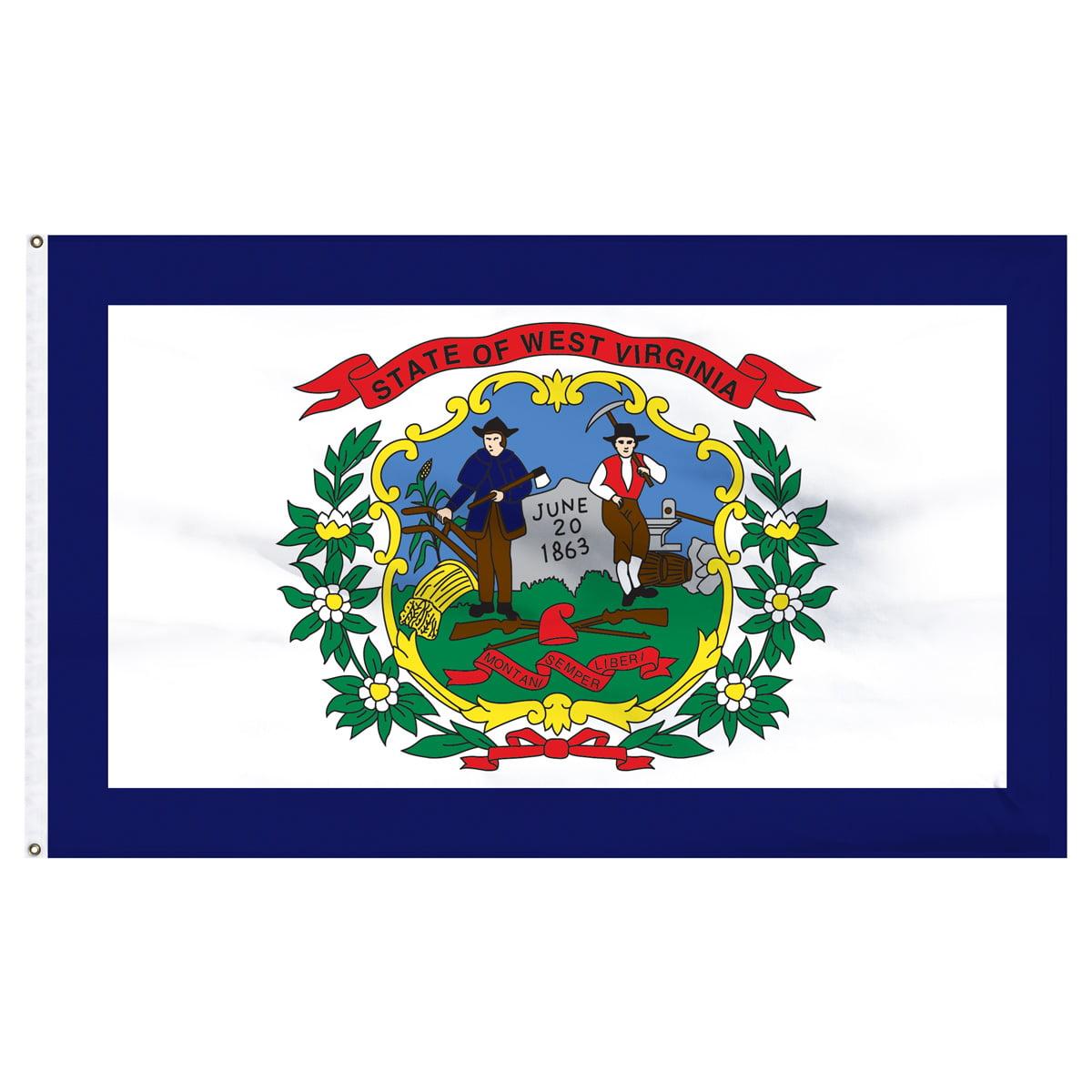 West Virginia Flag 4 x 6 Feet Nylon  Flag