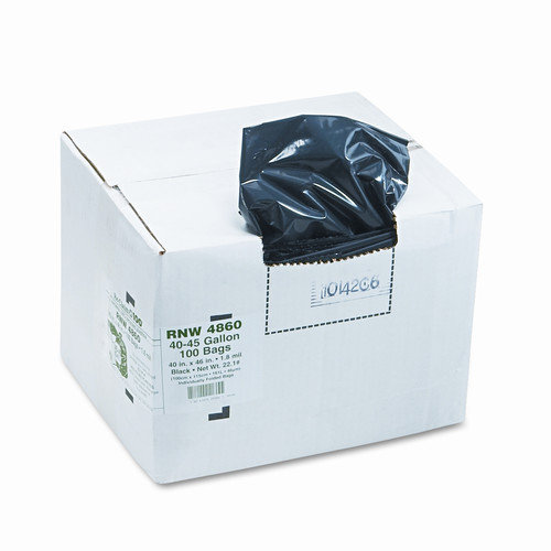 WEBSTER INDUSTRIES                                 Earthsense Commercial Recycled Can Liners, 45 Gal, 1.8 Mil, 40 X 46, 100/Carton