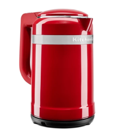 KitchenAid KEK1565DG 1.5 Liter Electric Kettle with Dual Wall Insulation, Empire Red