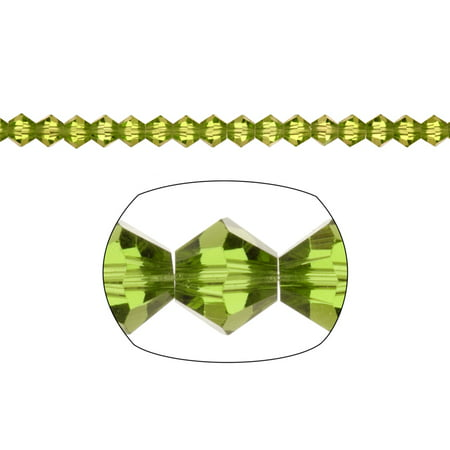 Olivine Austrian Crystal - Bicone Crystal Beads Olivine Green Faceted xilion Crystal For Jewelry Making mm 92Cnt