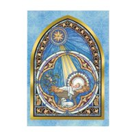 BestPysanky It's Christmas! Baby Jesus In Manger Greeting Card
