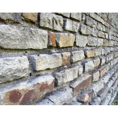 Canvas Print Brick Wall Bricks Retaining Wall Architecture Stone Stretched Canvas 32 x 24