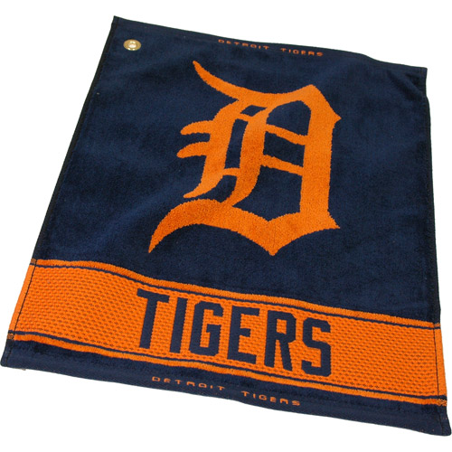Team Golf MLB Detroit Tigers Jacquard Woven Golf Towel