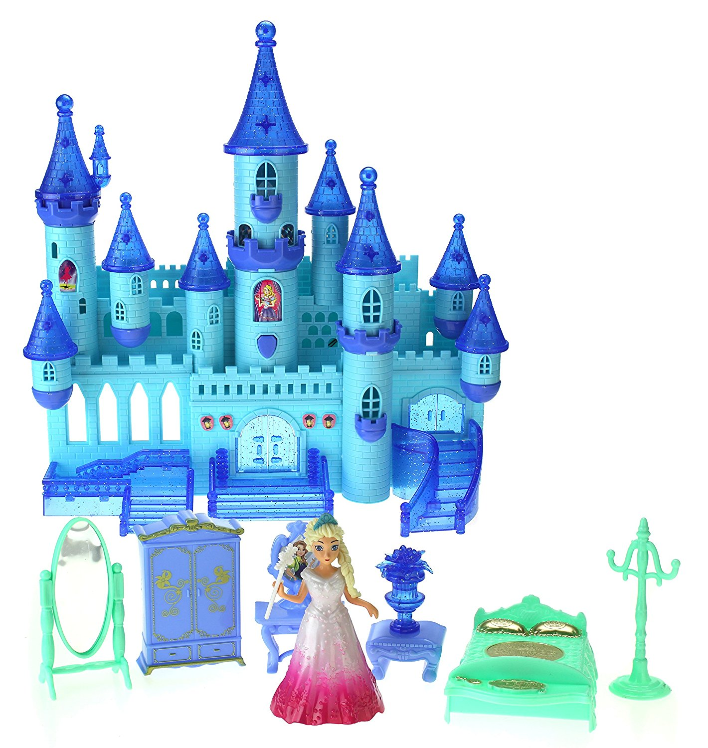 My Dream My Beauty Battery Operated Toy Castle Dollhouse w  Light up Effects, Music, Doll Princess Figure,... by Velocity Toys