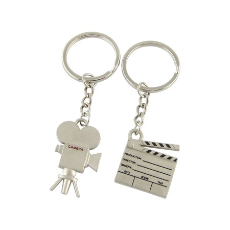 Pair Lovers Clapper w Camera Key Chain Gift Silver