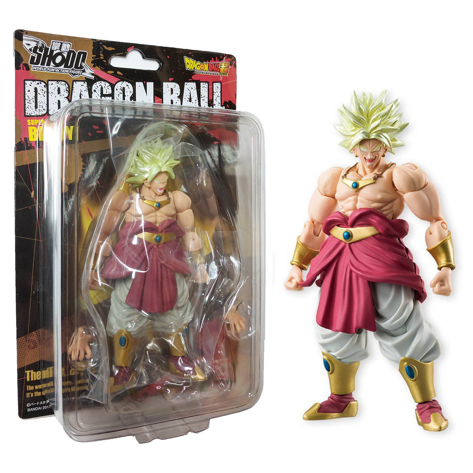 Bandai Shokugan Shodo Vol 5 Neo Dragon Ball Z Super Saiyan Broly Action Figure by Bandai