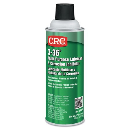 - CRC 3-36 Multi-Purpose Lubricant & Corrosion Inhibitor, 16 oz Aerosol Can