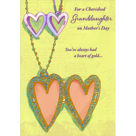 - Designer Greetings Heart Shaped Locket: Granddaughter Mother's Day Card