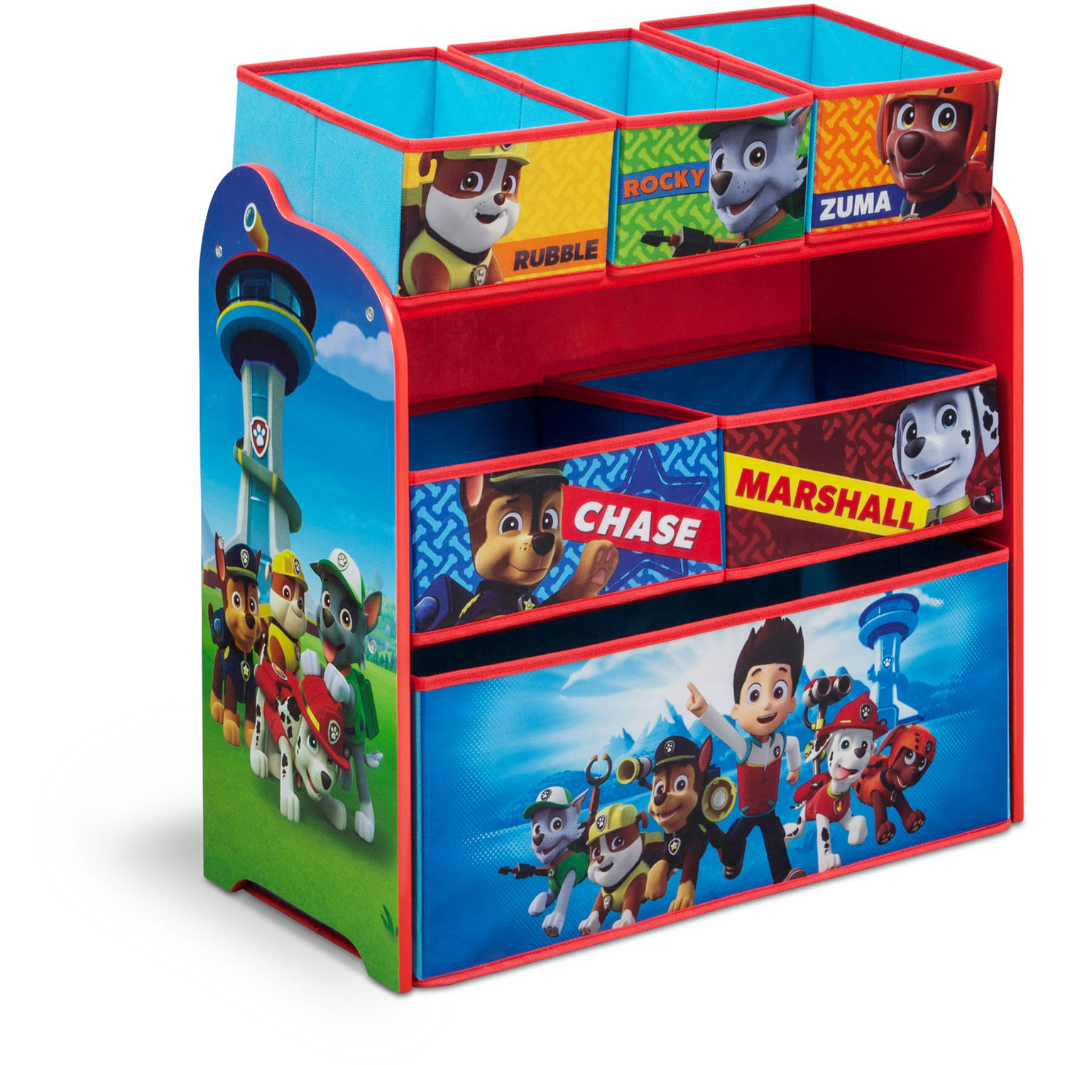 Paw Patrol Kids Toy Organizer Bin Children S Storage Box: Delta Children Paw Patrol Multi Bin Organizer Box Storage