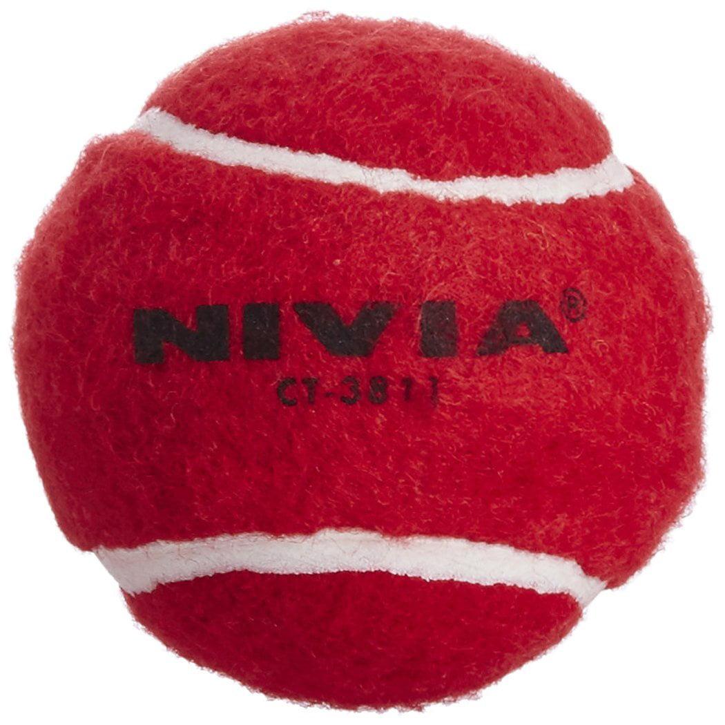 Nivia Heavy Tennis Ball Cricket Ball (Pack of 6), Red - Walmart.com