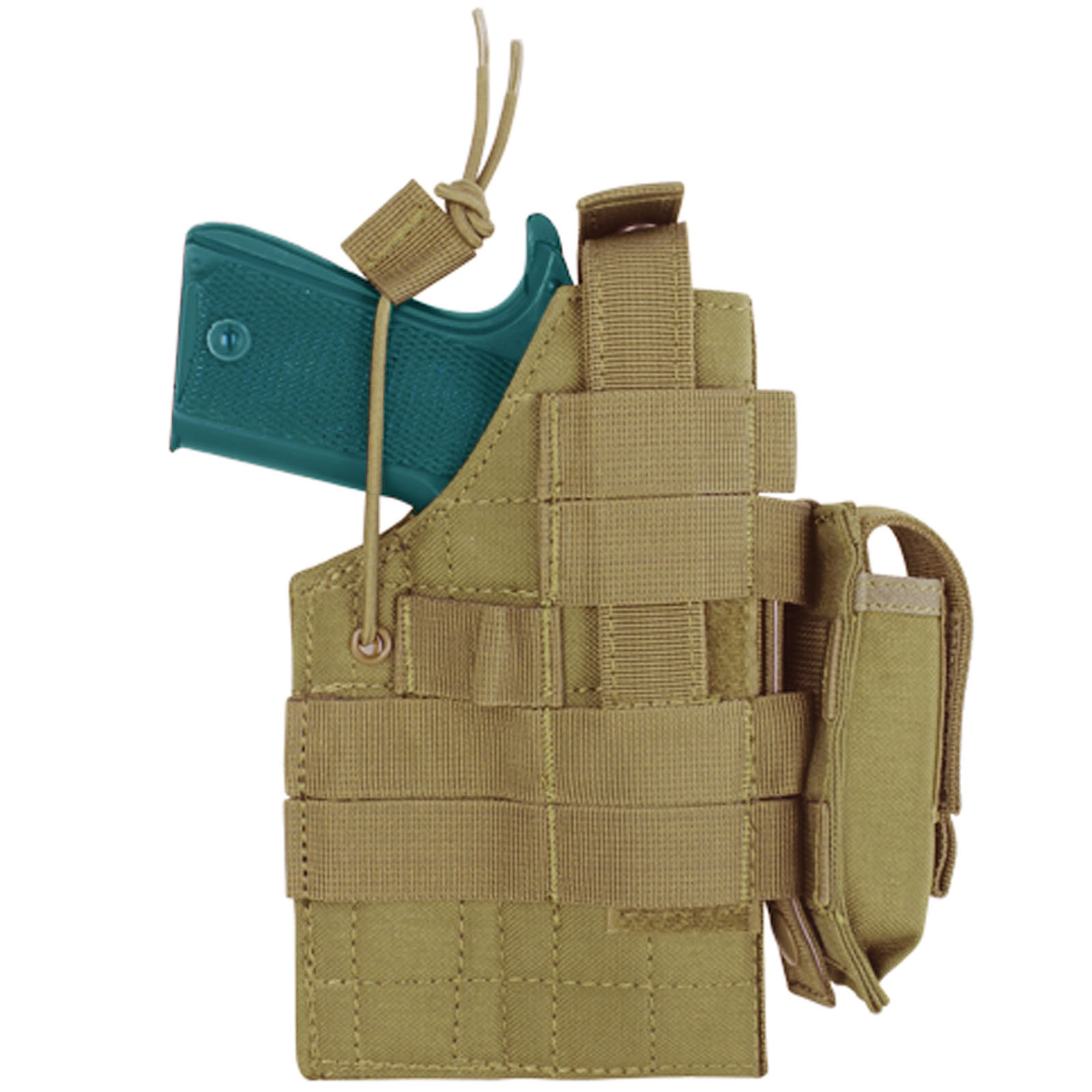 Condor Ambidextrous MOLLE Holster for 1911 with Mag Pouch - Coyote Tan