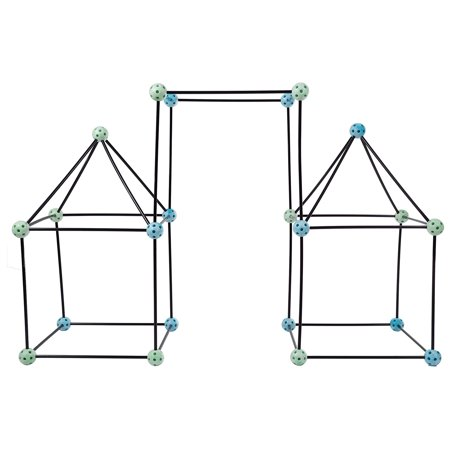 Construction Fort Building Toy Set for Kids with 60 Pieces - Build and Play Kit for Indoor and Outdoor Use - For Boys and Girls by Hey! Play!, PROMOTES.., By Hey Play From USA - Diy Fort