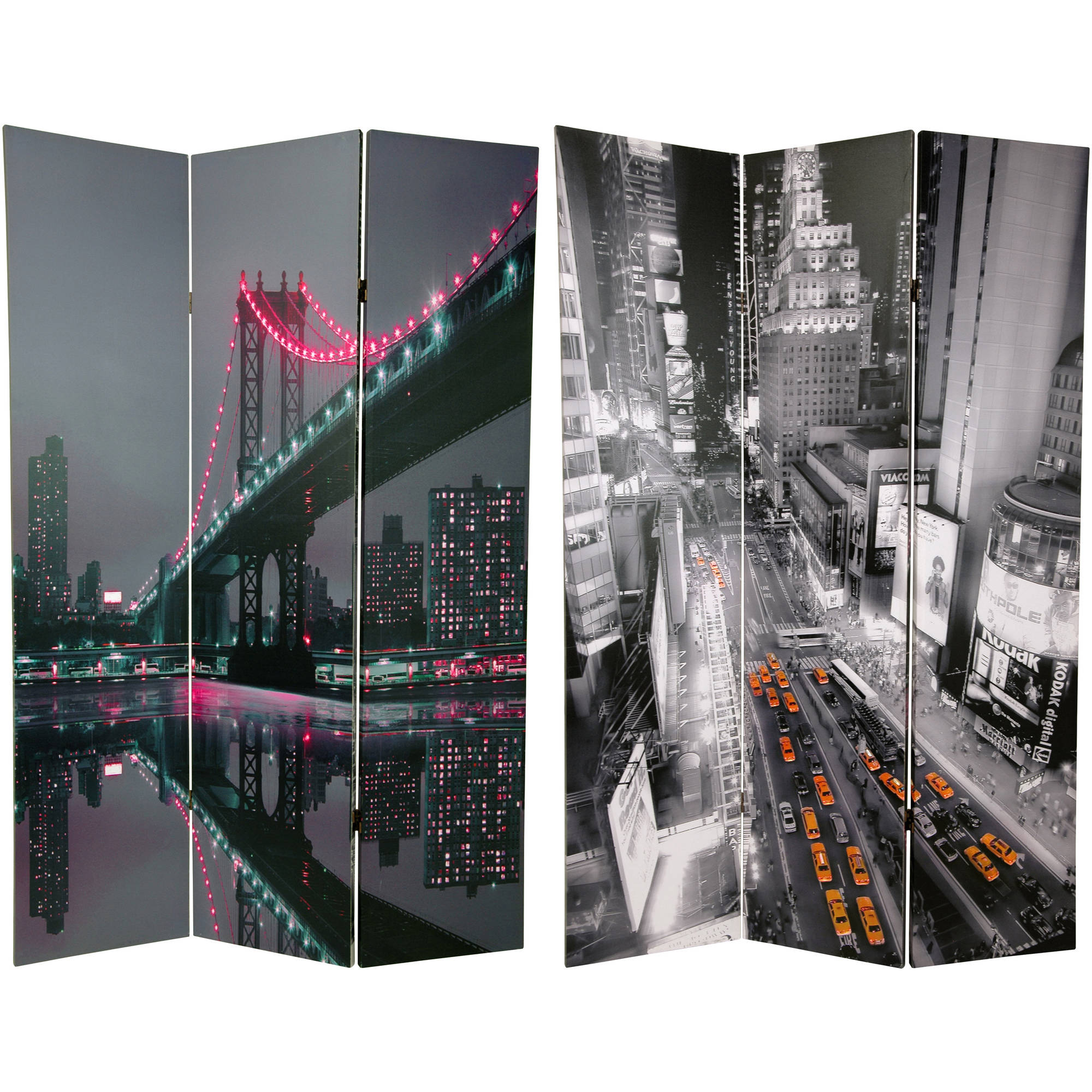6' Tall New York State of Mind Room Divider