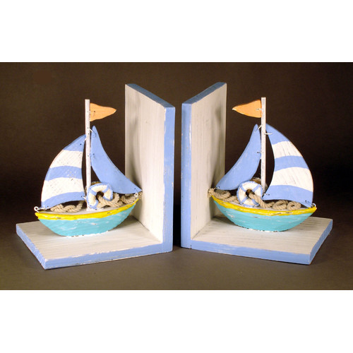 Judith Edwards Designs Sailboat Book Ends (Set of 2)