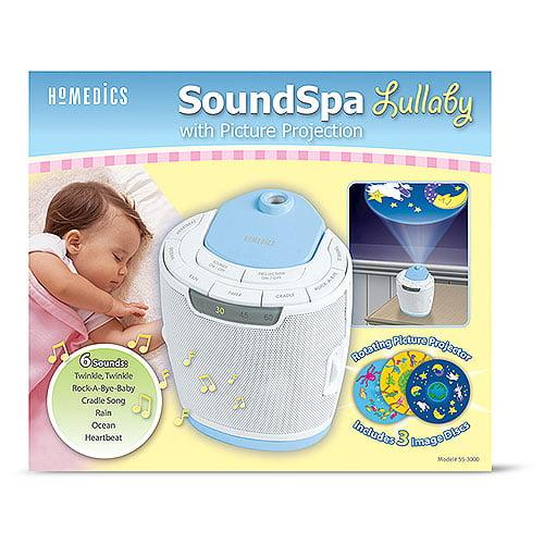 Homedics SoundSpa Lullaby Sound Machine with Picture Proj...