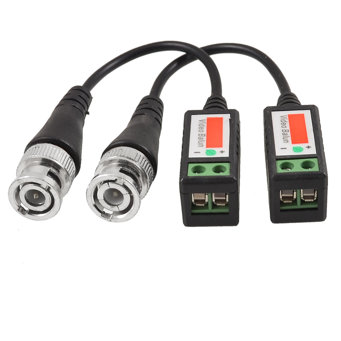 Unique Bargains 1 Channel CCTV Via Twisted Pairs UTP Passive Video Balun Transceiver Black