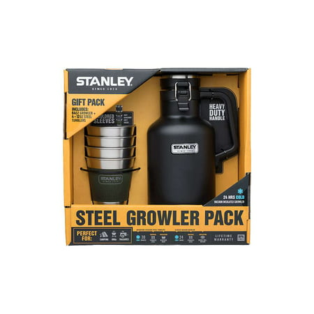 Stanley Classic 2 QT Vacuum Growler + Adventure Stacking Steel Tumblers