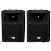 "Podium Pro PP1207A Bluetooth 12"" Active Speaker Pair MP3 1200W PA DJ Karaoke PP1207A-PR"