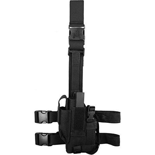 Elite Survival Tac-Light Thigh Holster For Beretta 92/96, Fn Five Seven With Tac Lights - Black (Left)
