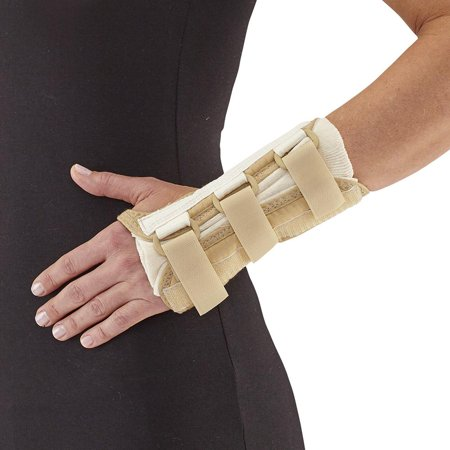 Ames Walker AW Style C52 Wrist Brace Deluxe Left   XL - Slip on design with foam lining - D-ring fasteners hook closure - Palm stay - Sturdy consistent pressure to your joint Easy Strider Walker Braces