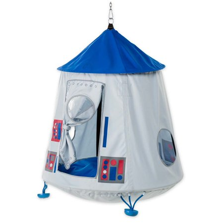 Space Capsule HugglePod HangOut with LED Lights - Hanging Chair for Kids ()