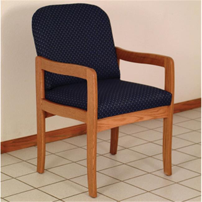 Wooden Mallet DW9-1MHVC Prairie Guest Chair in Mahogany - Cream