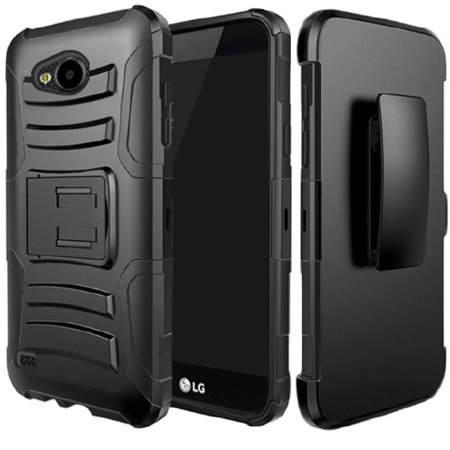LG X Venture Case, LG X Calibur Case, LG V9 Case, TJS Dual Layer Hybrid Shock Absorbing Impact Resist Rugged Kickstand Armor Case with Belt Clip Holster For LG X Venture/X Calibur/V9