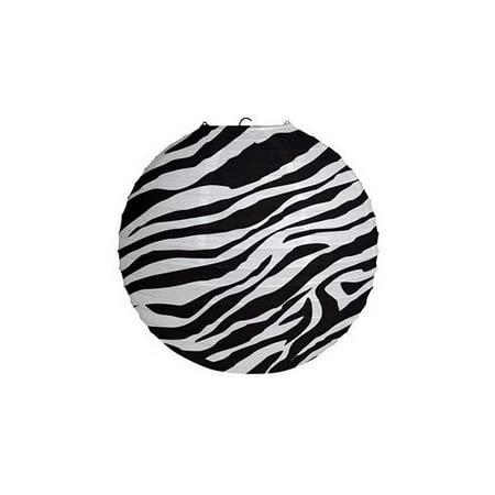 Zebra Print Paper Lantern by Creative Converting - 39885 - Animal Print Paper Lanterns