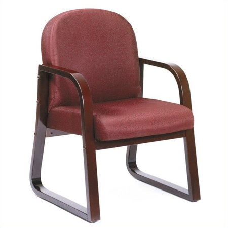 Boss Office Products Molded Mahogany Guest Chair with Sled Base-Black - image 2 of 4