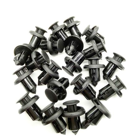 10mm Automobile Plastic Fastener Clip for Honda Civic Accord CRV Car Bumper Fender Fixed Clips