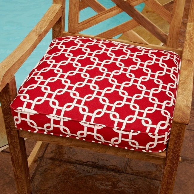 Humble and Haute Gillmore Linked Red Indoor/ Outdoor 20 Inch Chair Corded Cushion
