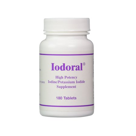OPTIMOX Iodoral High Potency Iodine Potassium Iodide Thyroid Support Supplement, 180 (Iodine Potassium)