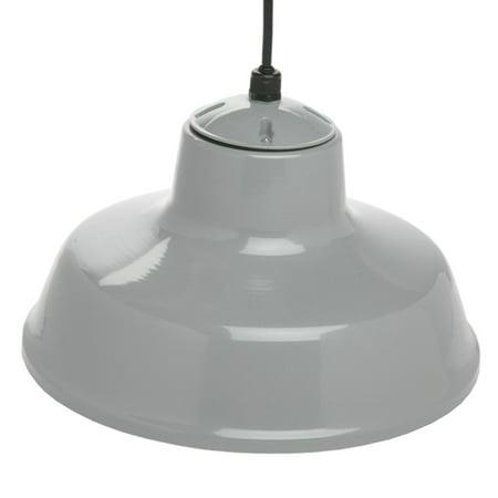 "Designers Edge L-1712 14"" Indoor One-Light Downward Hanging Farm Light Fixture, Powder-Coated"