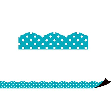 Teal Polka Dots Magnetic Border - image 1 de 1