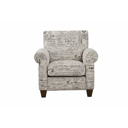 Comfortable Text Printed Accent Chair Black And White Walmartcom