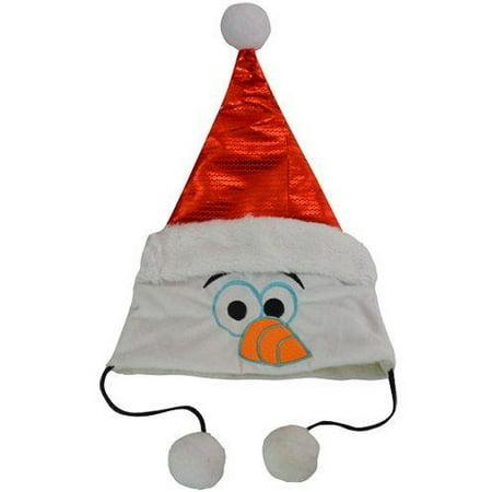 Christmas Hat - Dsiney - Frozen Olaf Head w/Sequins New OLAFQ (Olaf Plates)
